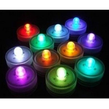 Velas Led Sumergibles Luminosas Centro Mesa Rgb Multicolor