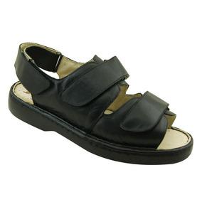 Sandália Masculina 301 Em Couro Comfort Preta Doctor Shoes