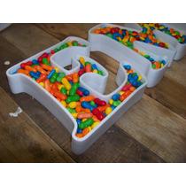 Letras Huecas 20cm Corporeas 3d Para Rellenar Candy Bar