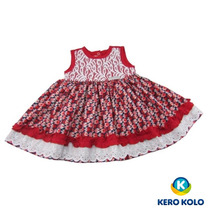 Vestido Bebê Kero Kollo Luxo Alta Qualidade Direto D/fábrica