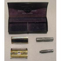 Maquina Afeitar Antigua Gillette Modelo C Con Caja Metal Usa