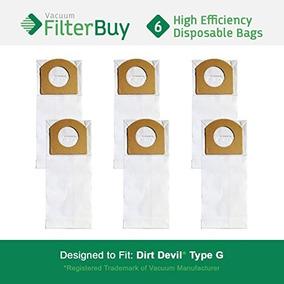 6 - Filterbuy Dirt Devil Vacuum Tipo G Cambio Bolsas, De Las