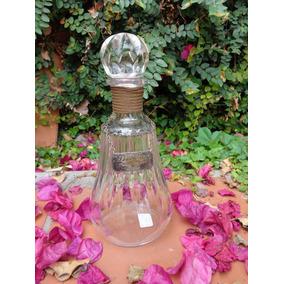 Botellon De Cristal De Baccarát Sellado Y Tallado A Mano