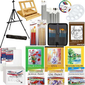 Estuche De Pinturas Artisticas-133 Piezas-accesorios-