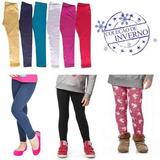 Lote 5 Legging Infantil Peluciada + 3 Leg Infantil Cotton