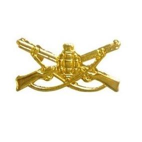 Distintivo De Arma Da Infantaria Dourado Mod Exército Ombro