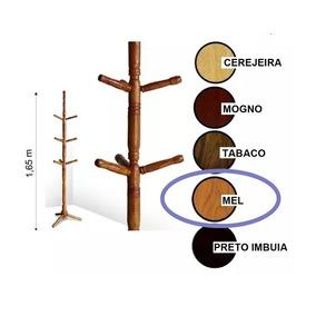 Cabideiro Mancebo Porta Casaco,chapéu Madeira Verniz