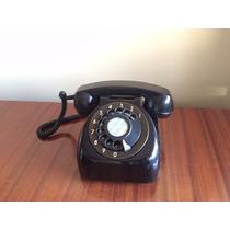 Como Nuevo! Telefono Negro De Baquelita Entel - Modelo Sapo