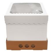 Caja Para Tortas Altas 25x25x25 Tapa Con Visor X10u
