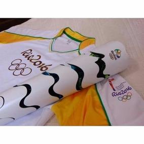 Tocha Olímpica Original Do Revezamento Com Uniforme Oficial