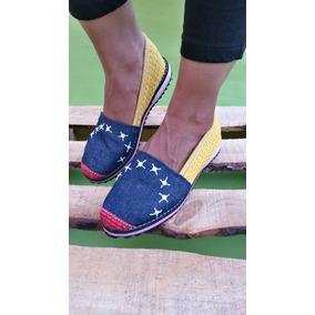 Cocuiza Alpargata Decorada Damas Jeans Tricolor Venezuela