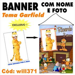 Banner Impresso Em Lona Para Festa Gato Garfield Will371