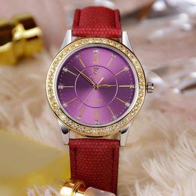 Reloj De Cuarzo Para Dama Marca Yazole C/estuche