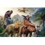 Painel 3d Sublimação Jurassic Park / Dinossauros 2,5 X 4,0