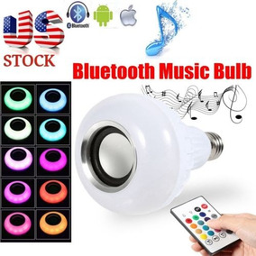 E27 Rgb Led Bluetooth Altavoz Bombilla Luz Música Regalo De