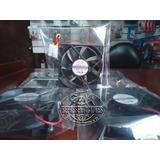 Ventilador Interno X Pc 8x8x2.5cm Negro / Led Molex/ 3 Hilos