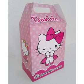 Cajitas Dulceros Personalizados Diseño Hello Kitty Recuerdo