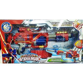 Arma Brinquedo Rifle Nerf Dardo Homem Aranha C/ 20 Nerfs