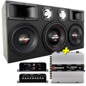 Caixa Som Trio Selada 5000w 4 Vias Hi Fi + Modulo Taramps