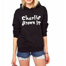 Moletom Charlie Brown Jr Blusa Canguru Capuz Bolso