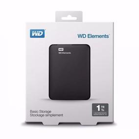 Hd Externo 1tb Wd Portatil Western Digital Elements 1 Tera