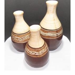 Trio De Vasos Pequenos Decoração Sala De Estar Escritório