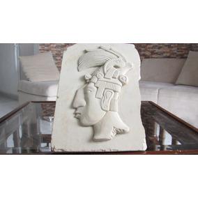 Rostro Tallado En Piedra Artesanía Chiapaneca