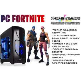 Pc Gamer Amd Ryzen 3 2200g V8 Gamer 8gb Ddr4 1tb Fortnite