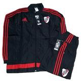 Conjunto De River Plate Microfibra Campera Y Pantalon adidas