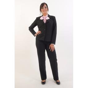 Conjunto Terninho Feminino Corte Reto Blazer E Calça