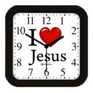 Relógio De Parede Eurora Cozinha Sala Jesus Preto 6592