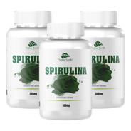 Kit 3 Spirulina - 300 Cápsulas De 500mg