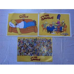 Set Laminas De Los Simpson (3 Unidades)