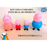 Peppa Pepa Pig Kit C/4 Brinquedos Figure Tv Pronta Entrega