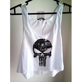 Blusa The Punisher Feminina Regata Cavada Camiseta Babylook