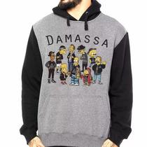 Moletom Raglan Damassaclan Dmc Canguru Moleton Rap Hip Skate