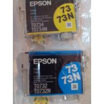 Epson Modelo T0732 T0734 73n Cyan (azul) Yellow(amarillo)