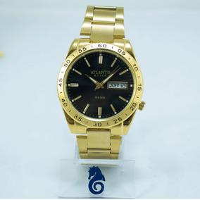 Relógio Masculino Atlantis Style Dourado Original + Caixa