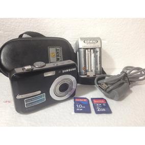 Camera Samsung S860 Completa C 2 Cartoes Pilhas Rec. Estojo