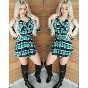 Camisão Vestido Xadrex Moda Feminino ,promoção