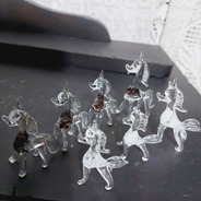 Lote Decoração Enfeite Cristal Cavalo 7 Unidades