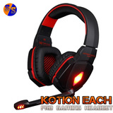 Audifonos Gamer Kotion Each G4000 Luz Led/control Volumen