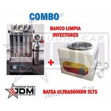 Banco Limpia Inyectores Mb + Batea Ultrasonido 3lts + 6 Dvd