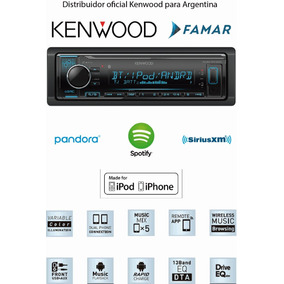 Stereo Kenwood Kmm-bt322 Bluetooth Usb Apple Android Spotify