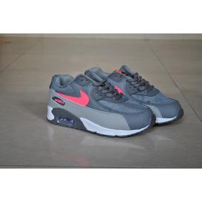 95708f796f070 Kp3 Zapatos Nike Air Max 90 Gris Rosa Para Niñas. Bs. 1.900