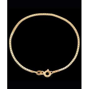 Pulseira Veneziana Em Ouro 18k - 750 - 19cm - 0,70grs