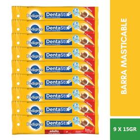 9 Pzs Pedigree Barra Masticable Dentastix Raza Pequeña 15g