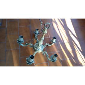 Araña Antigua De Bronce Lampara Colgante Techo
