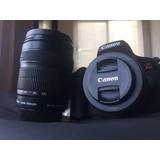 Canon T6i C/ Lente 18-135mm Y 50mm 1.8