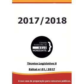 Apostila Câmara Municipal De Belo Horizonte-mg - Técnico Leg